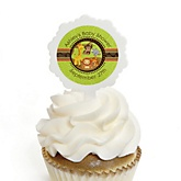 Funfari™ - Fun Safari Jungle - 12 Cupcake Picks & 24 Personalized Stickers - Baby Shower Cupcake Toppers