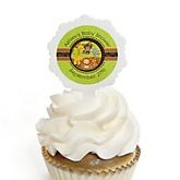 Funfari™ - Fun Safari Jungle - 12 Cupcake Picks & 24 Personalized Stickers - Baby Shower Cupcake Toppers