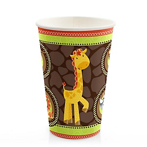 Funfari™ - Fun Safari Jungle - Baby Shower Hot/Cold Cups - 8 Pack