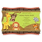 Funfari™ - Fun Safari Jungle - Personalized Baby Shower Invitations