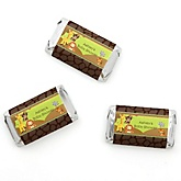 Funfari™ - Fun Safari Jungle - Personalized Baby Shower Mini Candy Bar Wrapper Favors - 20 Count