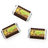 Funfari™ - Fun Safari Jungle - Personalized Baby Shower Mini Candy Bar Wrapper Favors - 20 Count