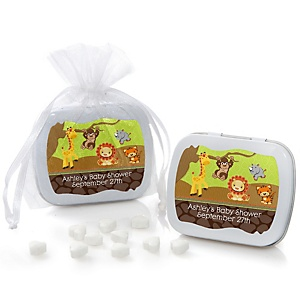 Funfari™ - Fun Safari Jungle - Mint Tin Personalized Baby Shower Favors