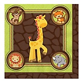 Funfari™ - Fun Safari Jungle - Baby Shower Luncheon Napkins - 16 Pack