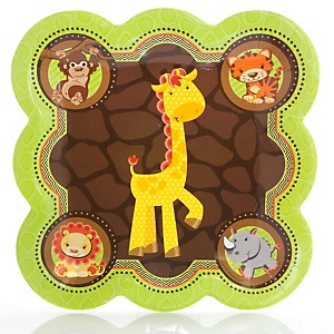 Funfari™ - Fun Safari Jungle - Baby Shower Dinner Plates - 8 Pack
