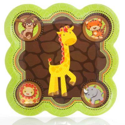 funfari fun safari jungle baby shower dinner plates 8 ct