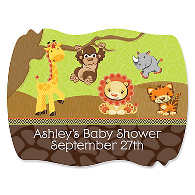 funfari fun safari jungle personalized baby shower squiggle