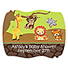 Funfari™ - Fun Safari Jungle - Personalized Baby Shower Squiggle Stickers - 16 ct