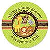 Funfari™ - Fun Safari Jungle - Personalized Baby Shower Sticker Labels - 24 ct