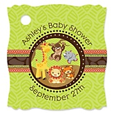 Funfari™ - Fun Safari Jungle - Personalized Baby Shower Tags - 20 Count