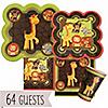 Funfari™ - Fun Safari Jungle - Birthday Party 64 Big Dot Bundle