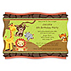 Funfari™ - Fun Safari Jungle - Personalized Birthday Party Invitations