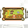 Funfari™ - Fun Safari Jungle - Personalized Birthday Party Placemats