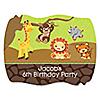 Funfari™ - Fun Safari Jungle - Personalized Birthday Party Squiggle Stickers - 16 ct