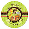 Funfari™ - Fun Safari Jungle - Personalized Birthday Party Sticker Labels - 24 ct
