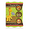 Funfari™ - Fun Safari Jungle - Personalized Birthday Party Thank You Cards