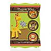 Funfari™ - Fun Safari Jungle - Personalized Birthday Party Thank You Cards