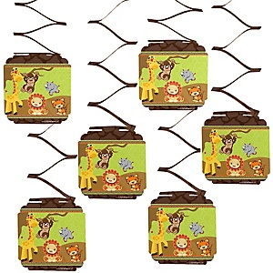 Funfari™ - Fun Safari Jungle - Baby Shower Hanging Decorations - 6 Count