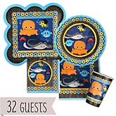 Under The Sea Critters - Baby Shower Tableware Bundle for 32 Guests