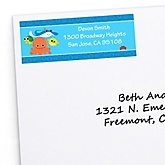 Under The Sea Critters - Personalized Baby Shower Return Address Labels - 30 ct