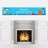 Under The Sea Critters - Personalized Baby Shower Banners