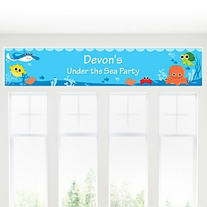 Under The Sea Critters - Personalized Baby Shower Banner
