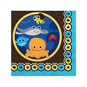 Under The Sea Critters - Baby Shower Beverage Napkins - 16 ct