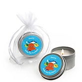 Under The Sea Critters - Candle Tin Personalized Baby Shower Favors