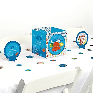 Under The Sea Critters - Baby Shower Centerpiece & Table Decoration Kit
