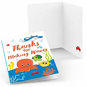 Under The Sea Critters - Baby Shower Thank You Cards - Set of  8