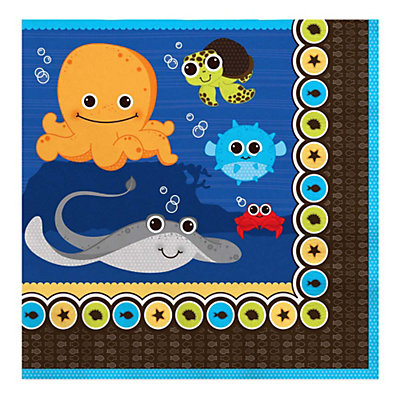 Under The Sea Critters - Luncheon Napkins - 16 Qty/Pack - Baby Shower Tableware