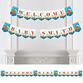 Under The Sea Critters - Personalized Baby Shower Bunting Banner