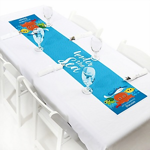 Under The Sea Critters - Personalized Baby Shower Petite Table Runners