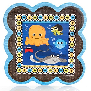 Under The Sea Critters - Baby Shower Dinner Plates - 8 Pack