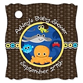 Under The Sea Critters - Personalized Baby Shower Tags - 20 Count