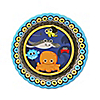 Under The Sea Critters - Birthday Party Dessert Plates - 8 ct