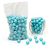Blue - Shimmer One Inch Gumballs - Baby Shower Candy - 2 lbs