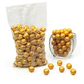 Gold - Shimmer One Inch Gumballs - Baby Shower Candy - 2 lbs