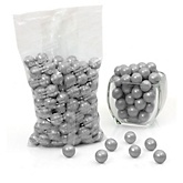 Gray/Silver - Shimmer One Inch Gumballs - Baby Shower Candy - 2 lbs