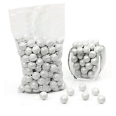 White - Shimmer One Inch Gumballs - Baby Shower Candy - 2 lbs