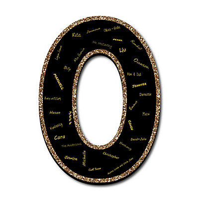 Guestbook | Board | Party | Black | Gold | Sign