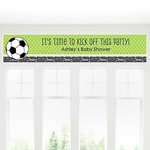 GOAAAL! - Soccer - Personalized Baby Shower Banner