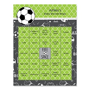 GOAAAL! - Soccer - Bingo Personalized Baby Shower Games - 16 Count