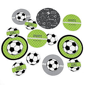 GOAAAL! - Soccer - Personalized Baby Shower Table Confetti - 27 Count