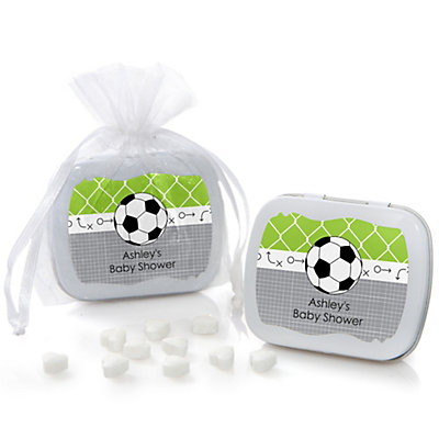 GOAAAL! - Soccer - Mint Tin Personalized Baby Shower Favors...