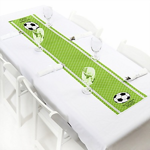 GOAAAL! - Soccer - Personalized Baby Shower Petite Table Runners