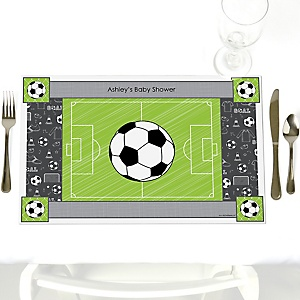 GOAAAL! - Soccer - Personalized Baby Shower Placemats