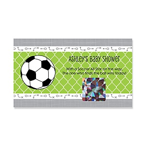 GOAAAL! - Soccer - Personalized Baby Shower Scratch-Off Game – 22 Count