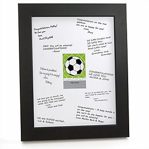 GOAAAL! - Soccer - Personalized Baby Shower Print with Signature Mat