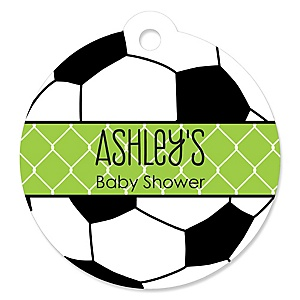 GOAAAL! - Soccer - Personalized Baby Shower Round Tags - 20 Count